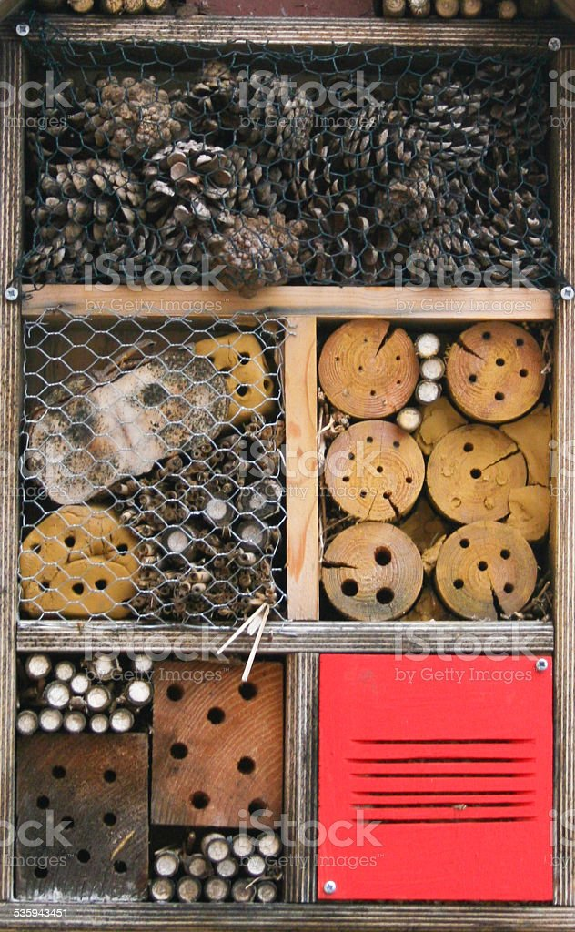 Insektenhotel stock photo