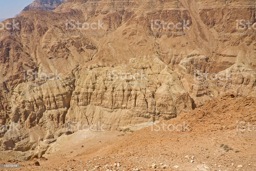 Insensate mountains of Judean desert. royalty-free stock photo