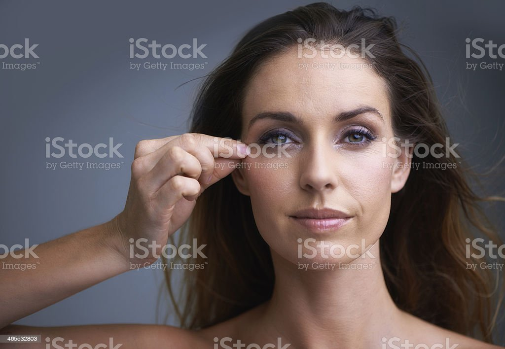 Insert anti aging advertisement here stock photo