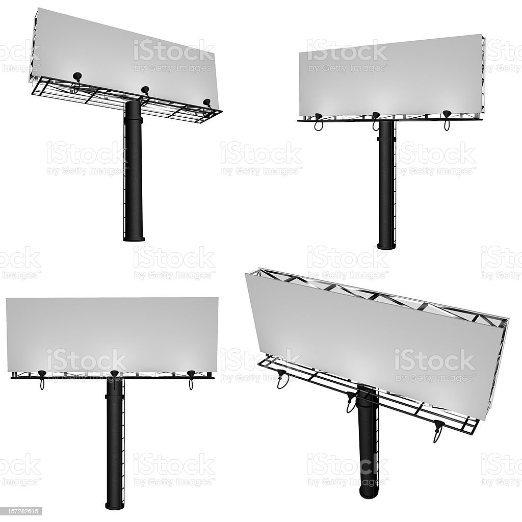 Insert Billboard Here (Clipping Path) royalty-free stock photo