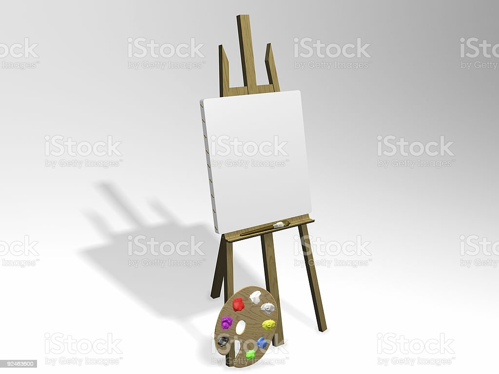 Insert Painting Here (Portrait) royalty-free stock photo
