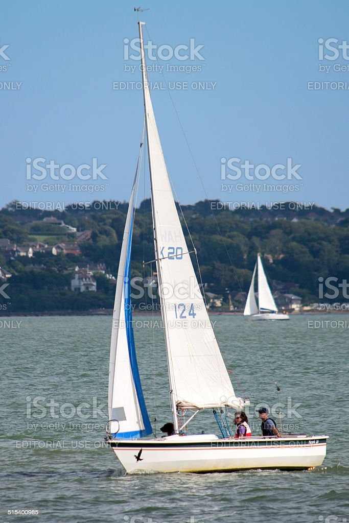 Inshore Sailing stock photo