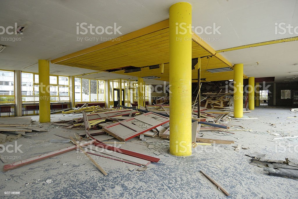 Inside a building soon to be demolished royalty-free stock photo