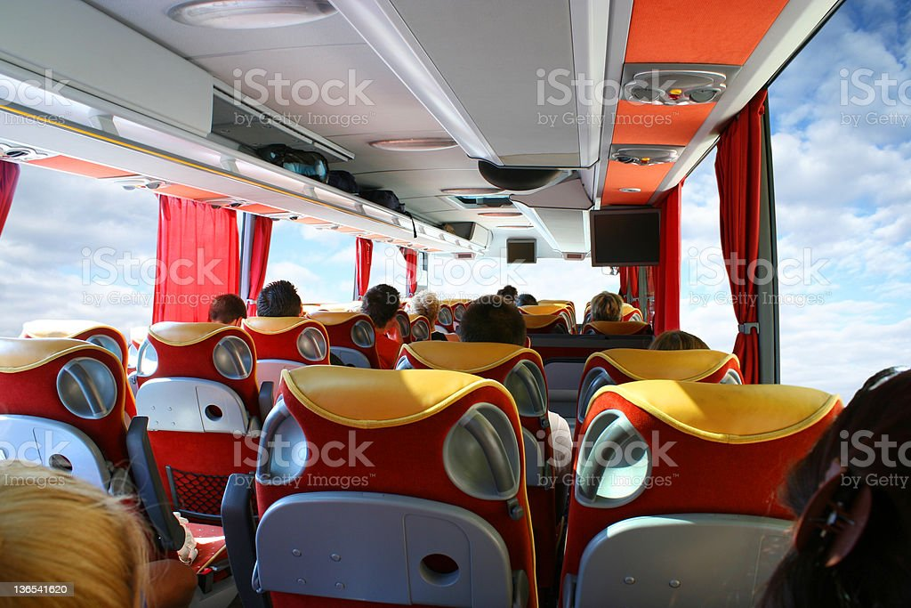 Inside a bus royalty-free stock photo