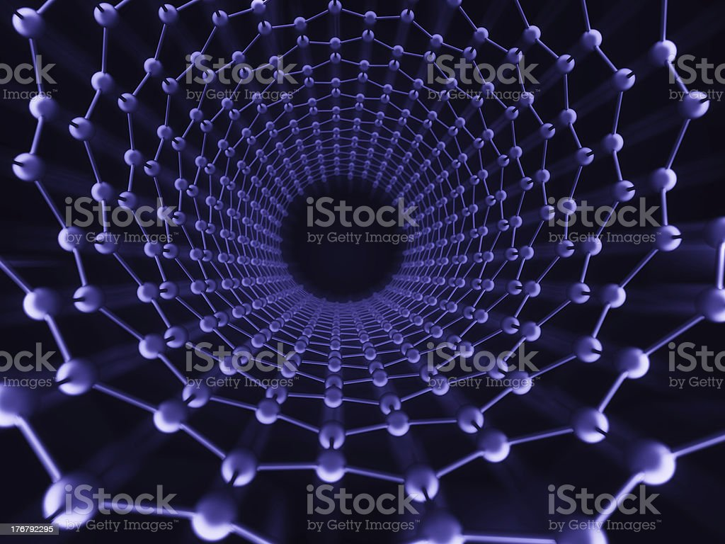 Inside a carbon nanotube stock photo