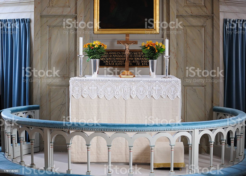 Inside a church royalty-free stock photo