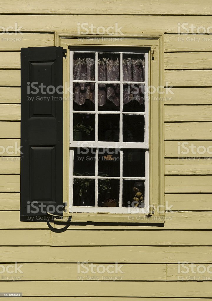Inside a Country Window royalty-free stock photo