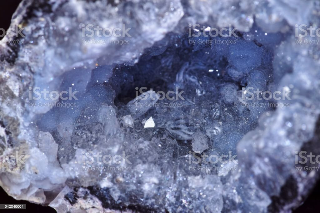 Inside a Crystal Geode stock photo