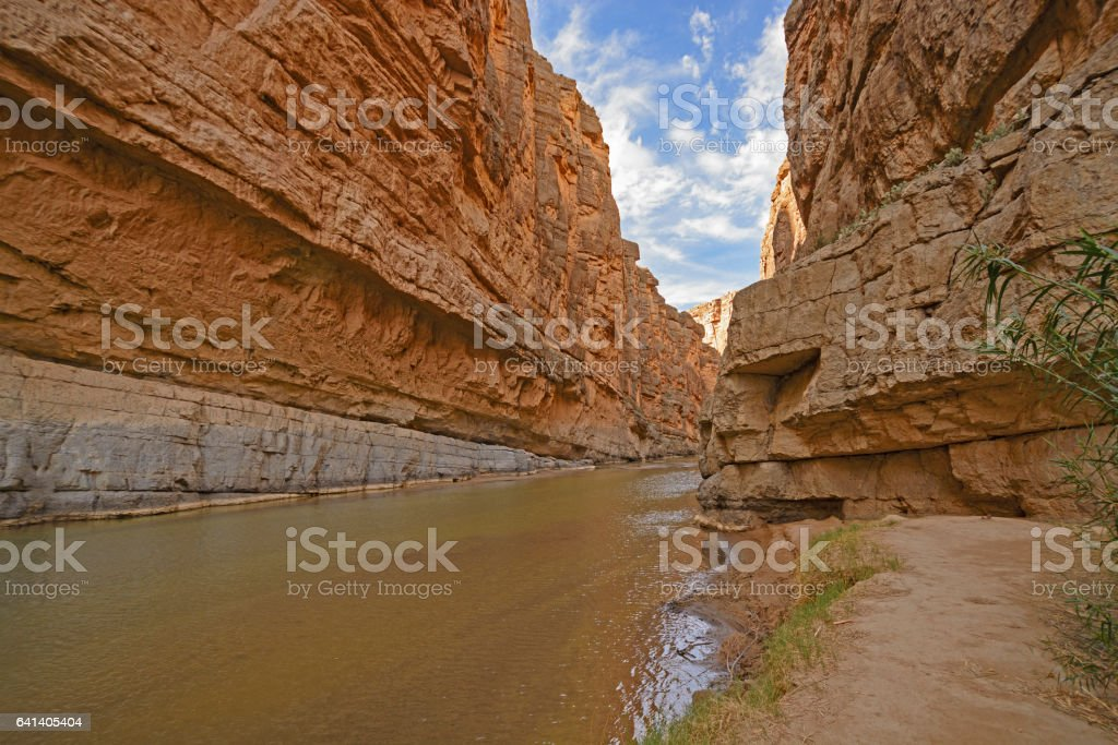 Inside a Desert Canyon stock photo