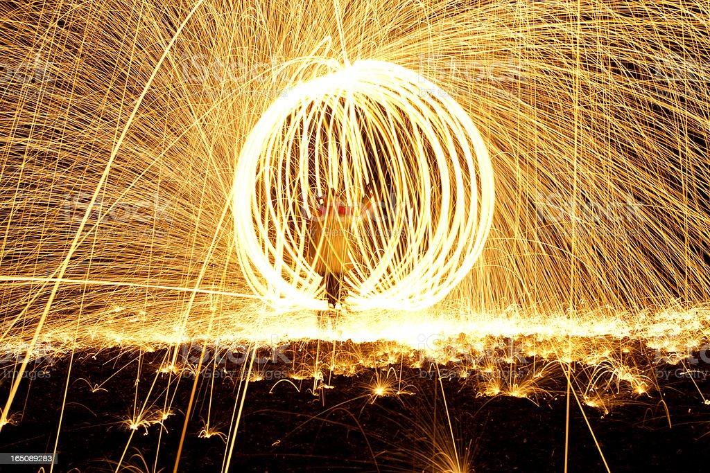 Inside a fireball. royalty-free stock photo