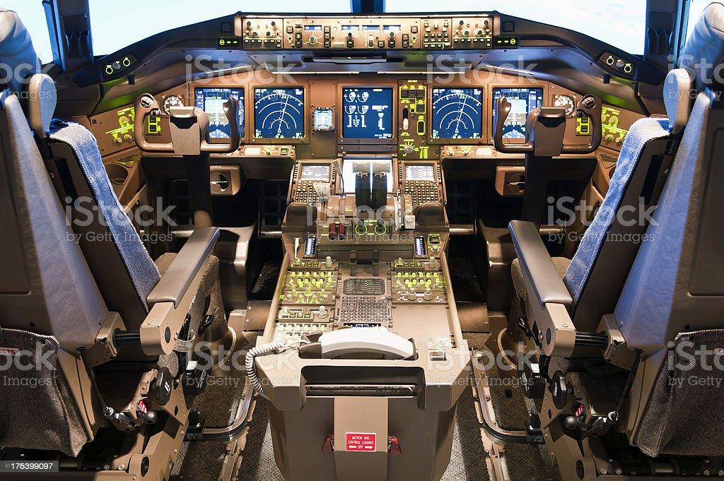 Inside a flight simulator royalty-free stock photo