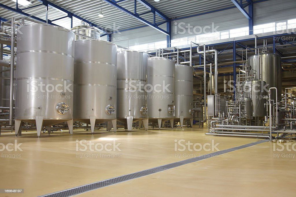 Inside a german brewery stock photo