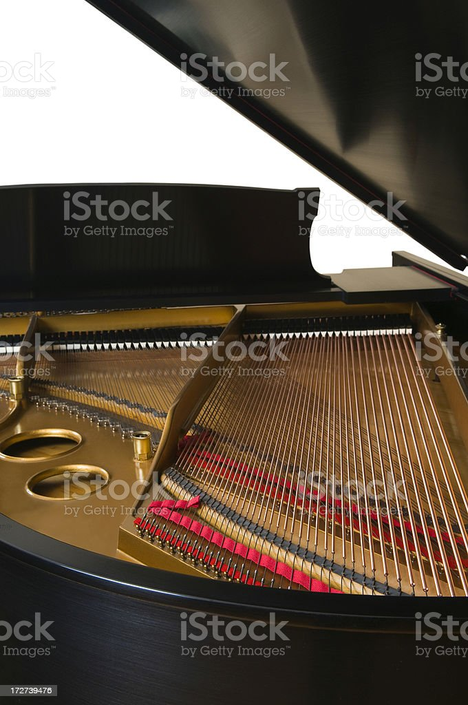 Inside a Grand Piano royalty-free stock photo