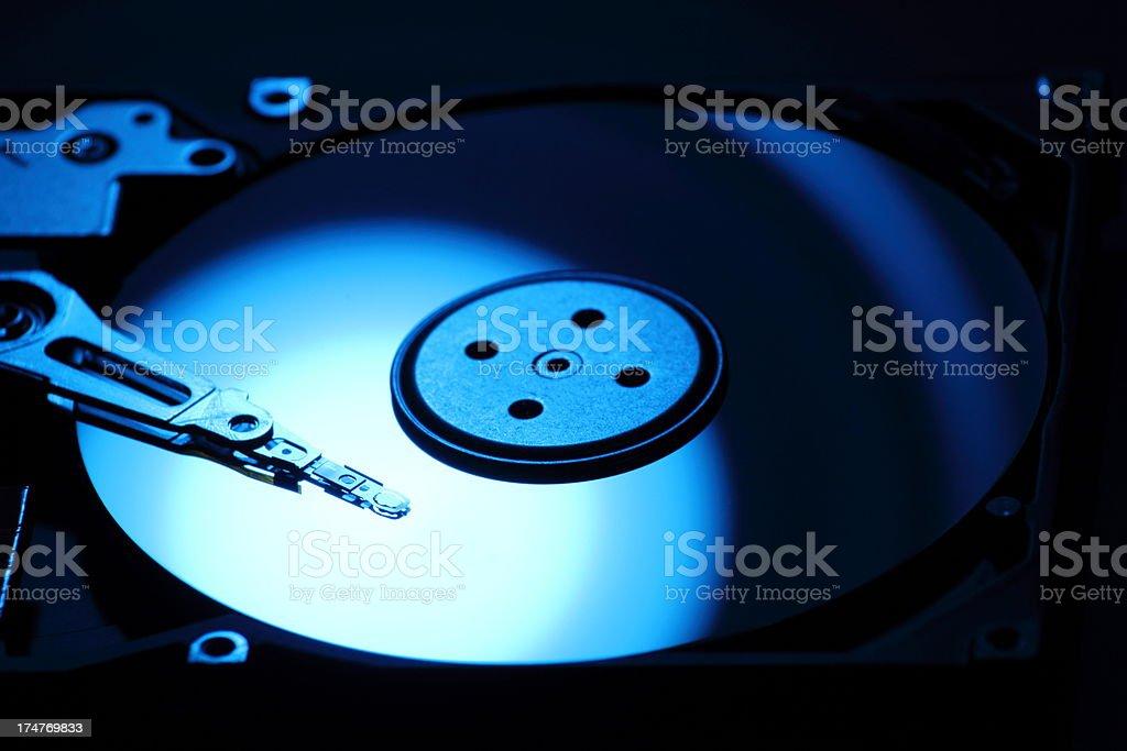 Inside a hard drive stock photo