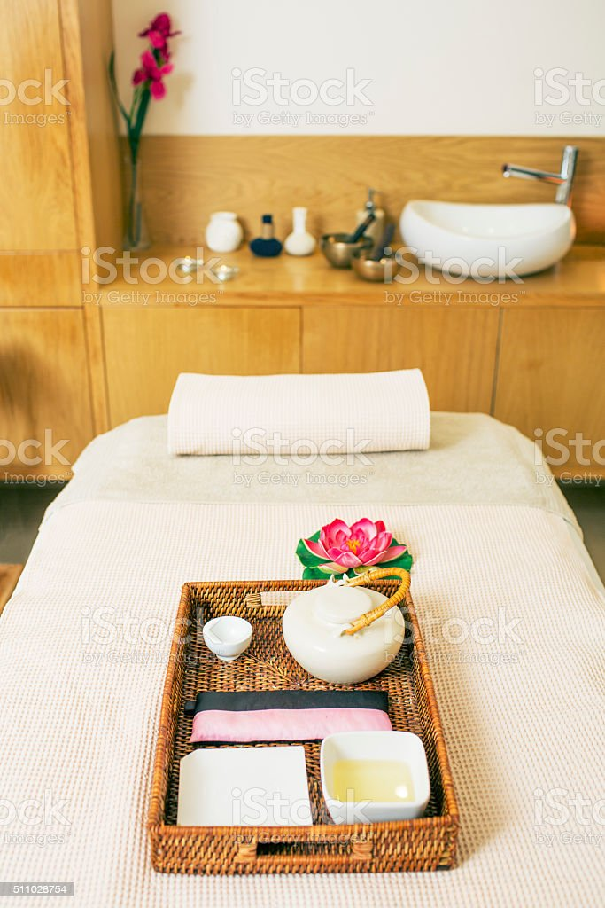 Inside a health spa stock photo