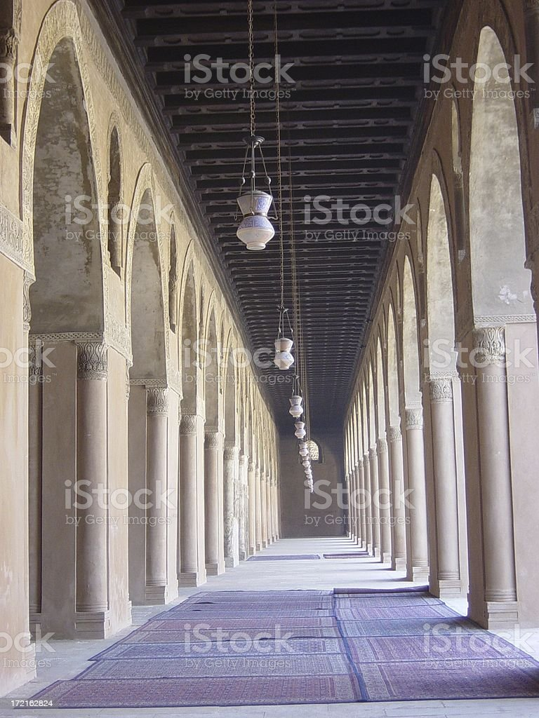 Inside a Mosque royalty-free stock photo