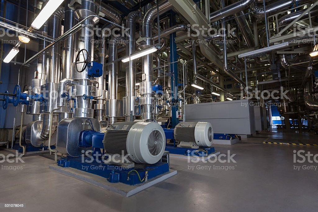 Inside a power plant stock photo