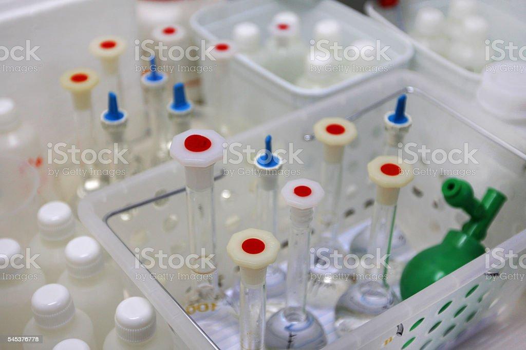 Inside a scientific lab stock photo