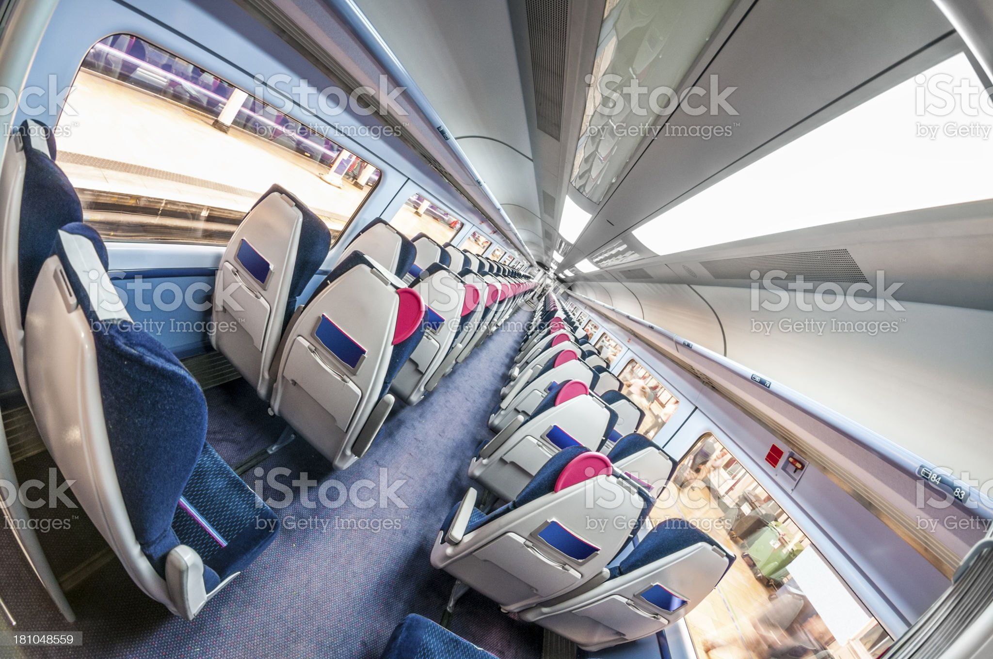 Inside A Train Cabin royalty-free stock photo
