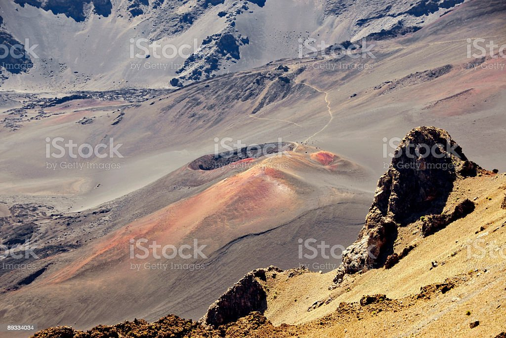 Inside a Volcano royalty-free stock photo