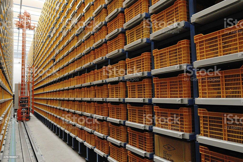 Inside a warehouse stock photo