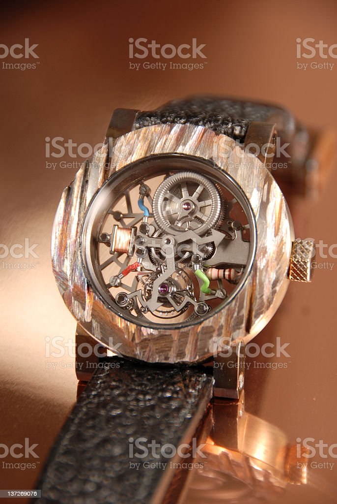 Inside a Watch royalty-free stock photo