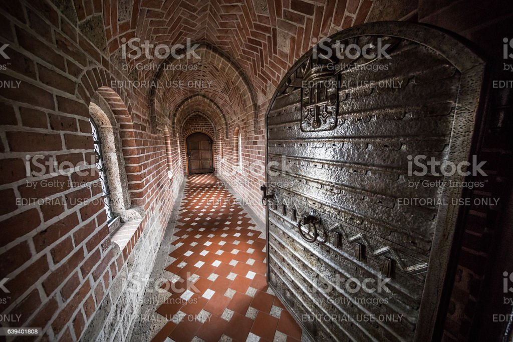 Inside Absalon's Arch, Roskilde Cathedral stock photo