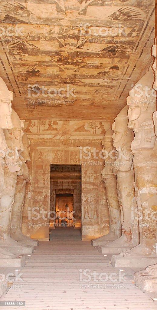 inside Abu Simble royalty-free stock photo