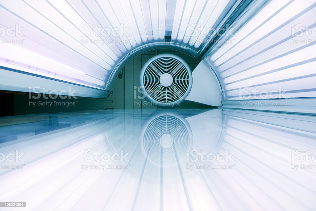 Inside active tanning bed royalty-free stock photo