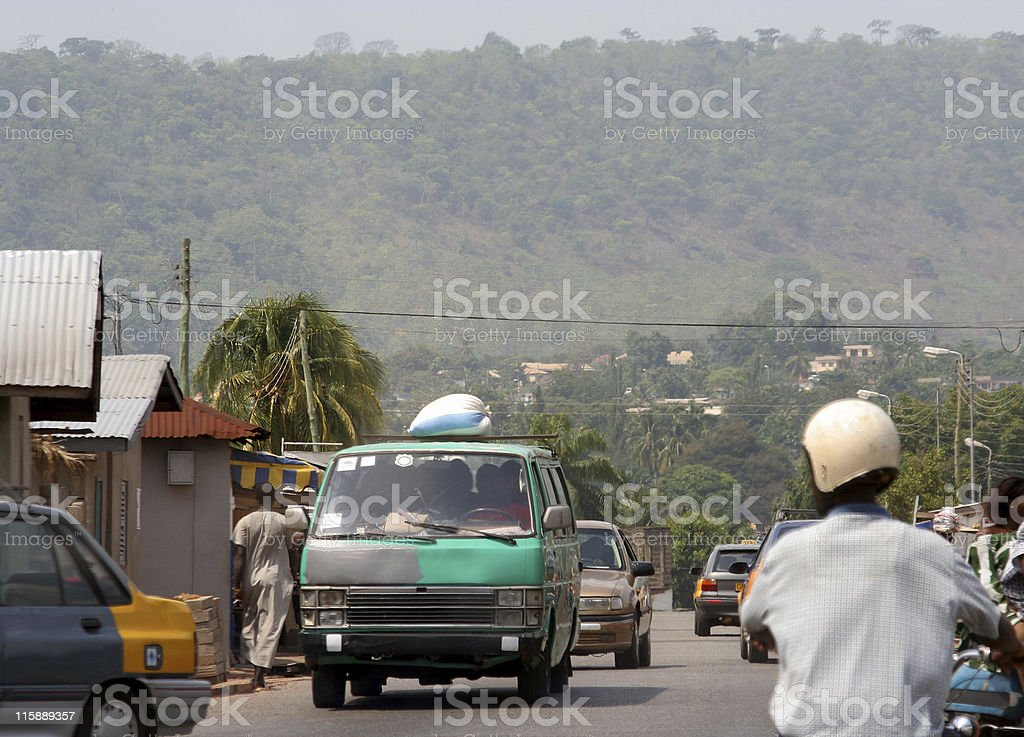 inside african town stock photo