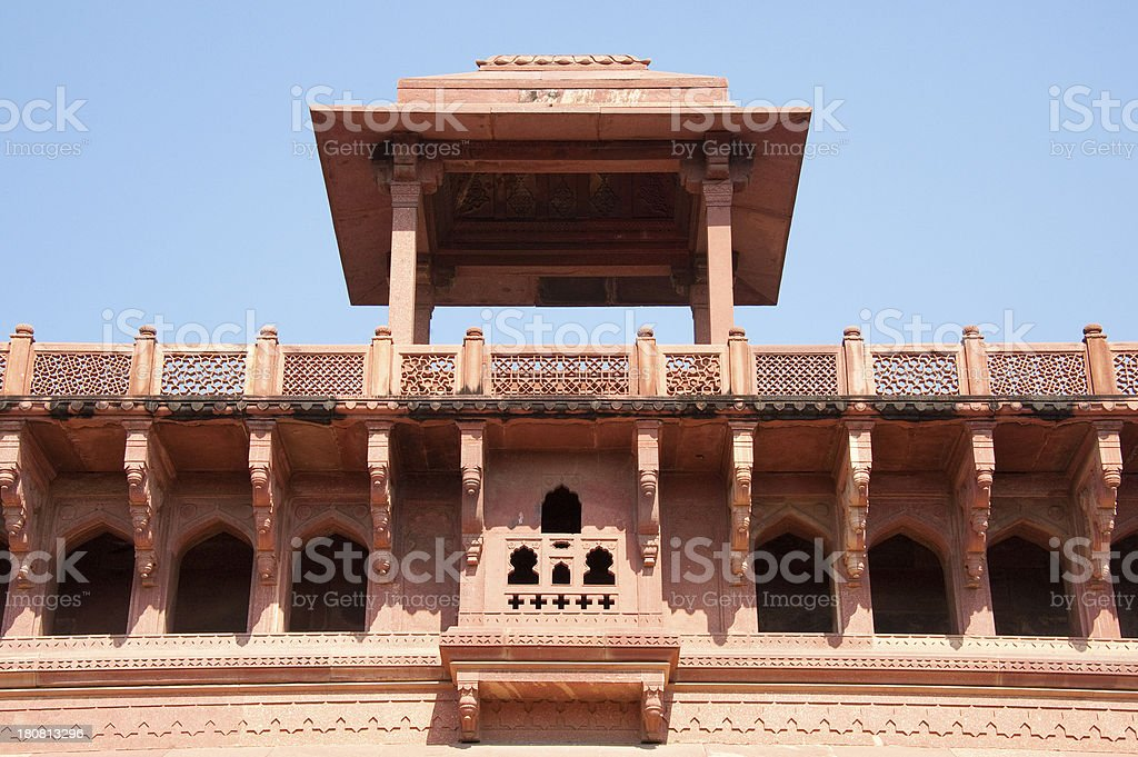 Inside Agra Fort royalty-free stock photo