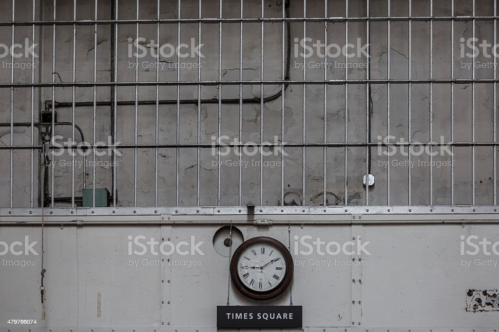 Inside Alcatraz Hour stock photo