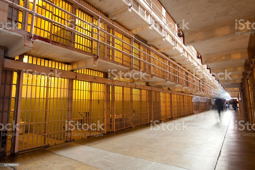 Inside Alcatraz Prison royalty-free stock photo