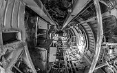 Inside an abandoned soviet plane