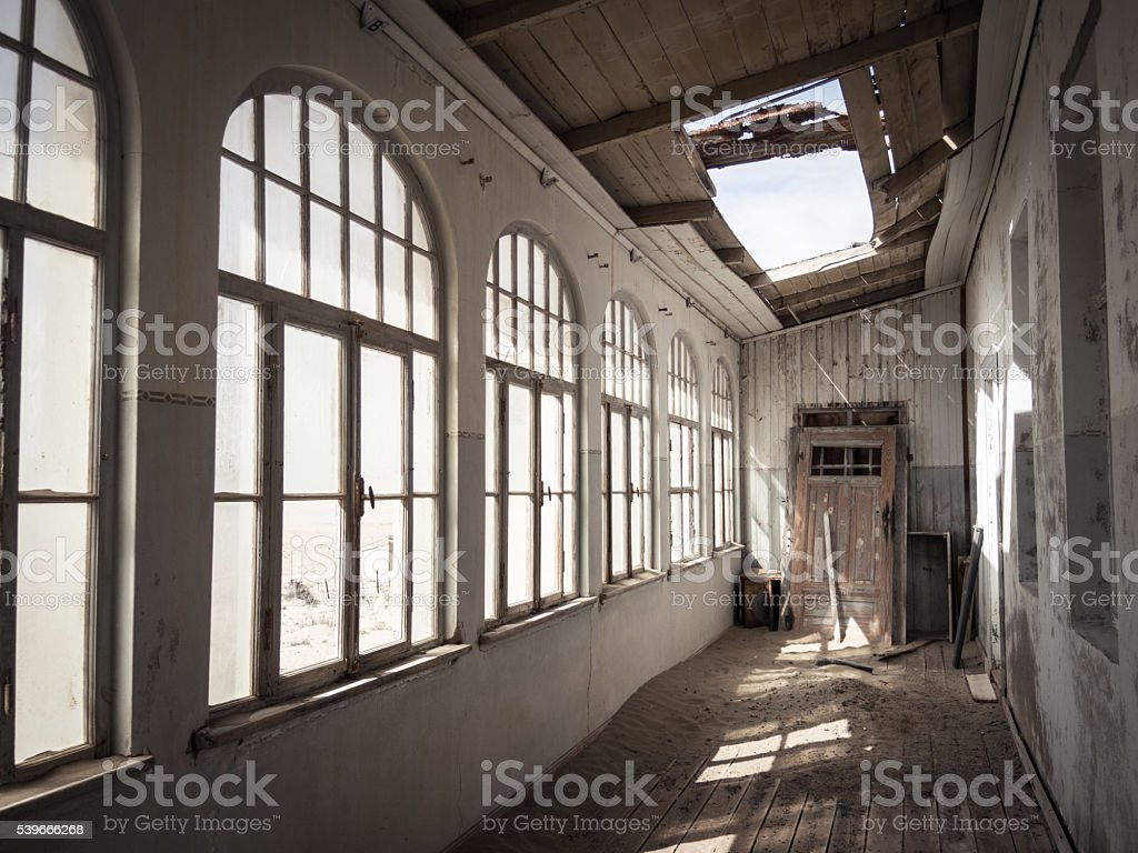 Inside an Old and Abandoned House stock photo