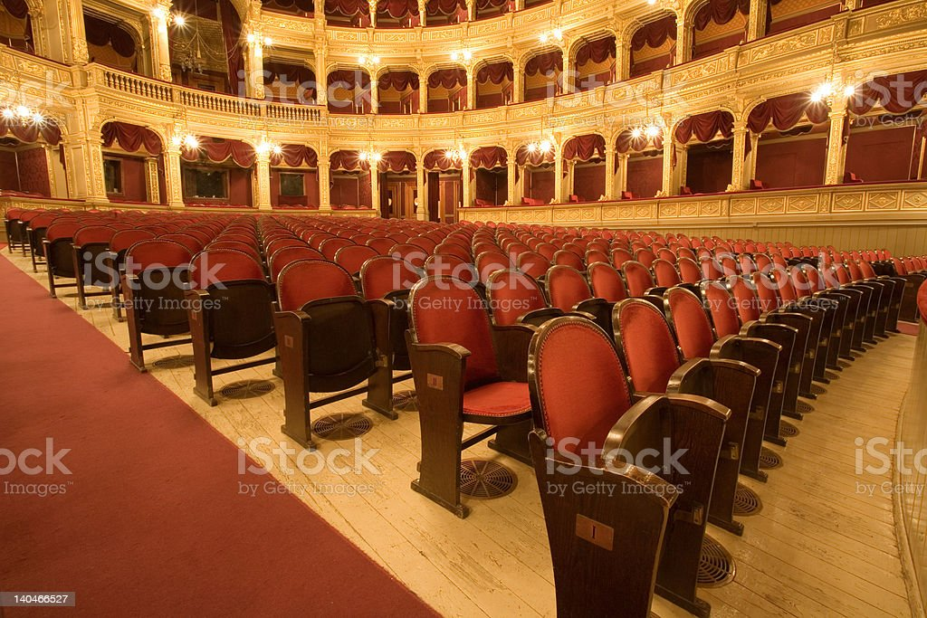inside an old theater royalty-free stock photo