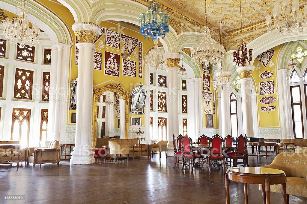 Inside Bangalore Palace royalty-free stock photo