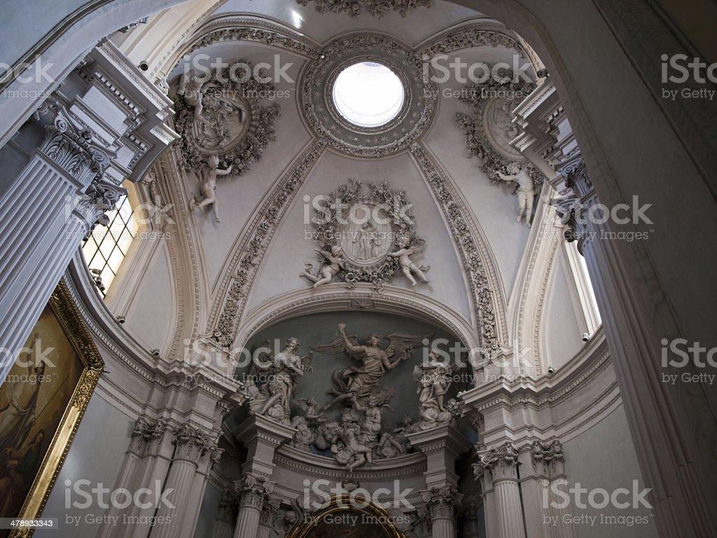 Inside Basilica of St. John Lateran stock photo