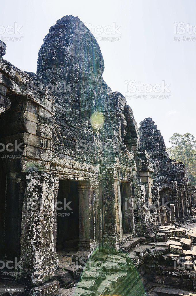 Inside Bayon Temple royalty-free stock photo