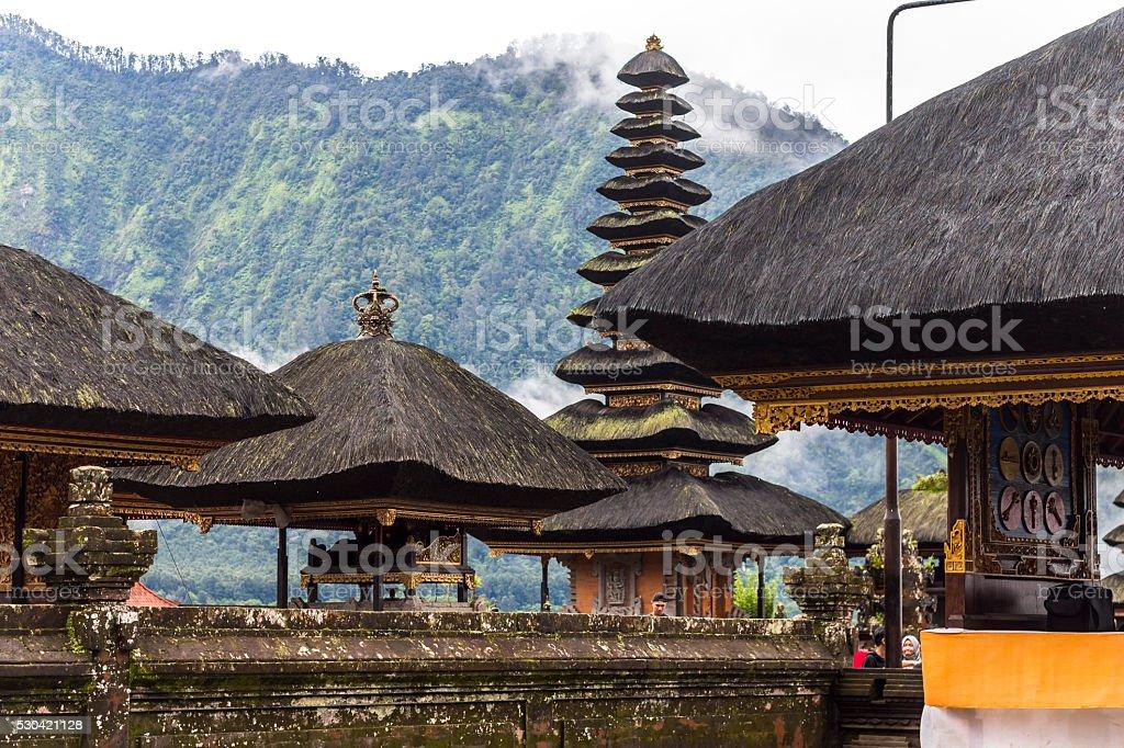 Inside Bratan water temple on Bali stock photo