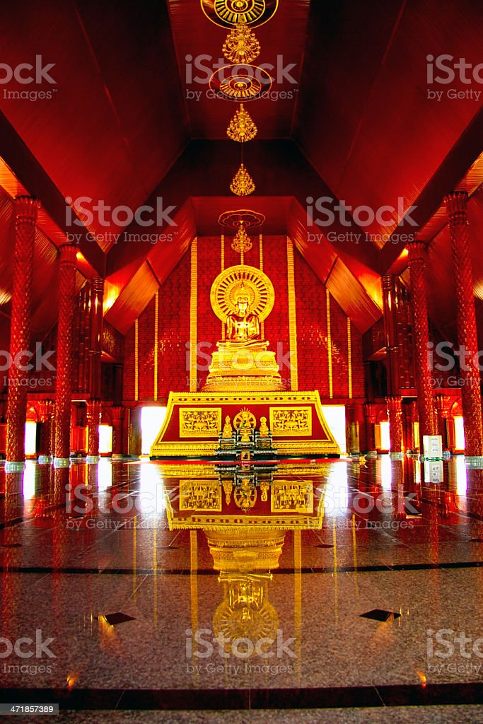 Inside buddist temple royalty-free stock photo