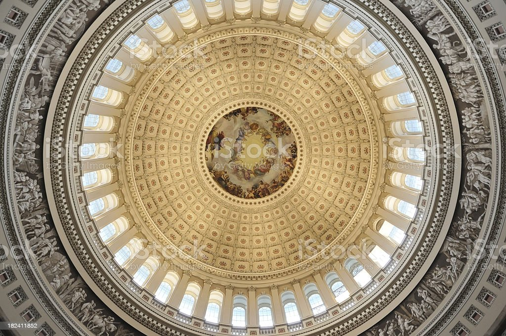 Inside Capital Hill Dome royalty-free stock photo
