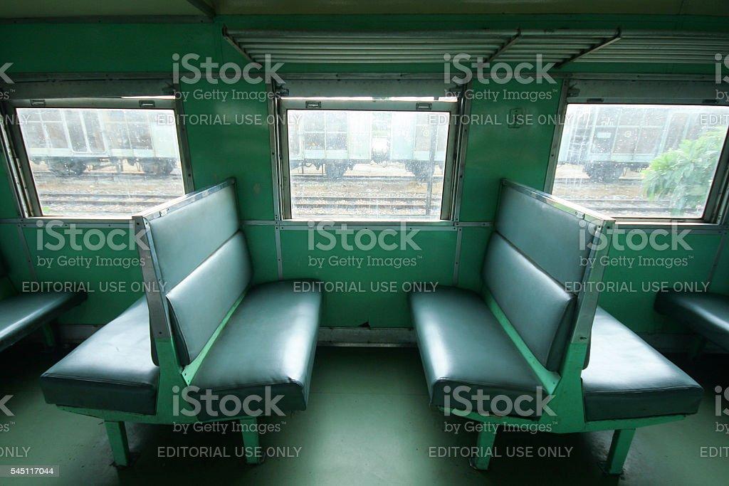 Inside car class 3 train stock photo