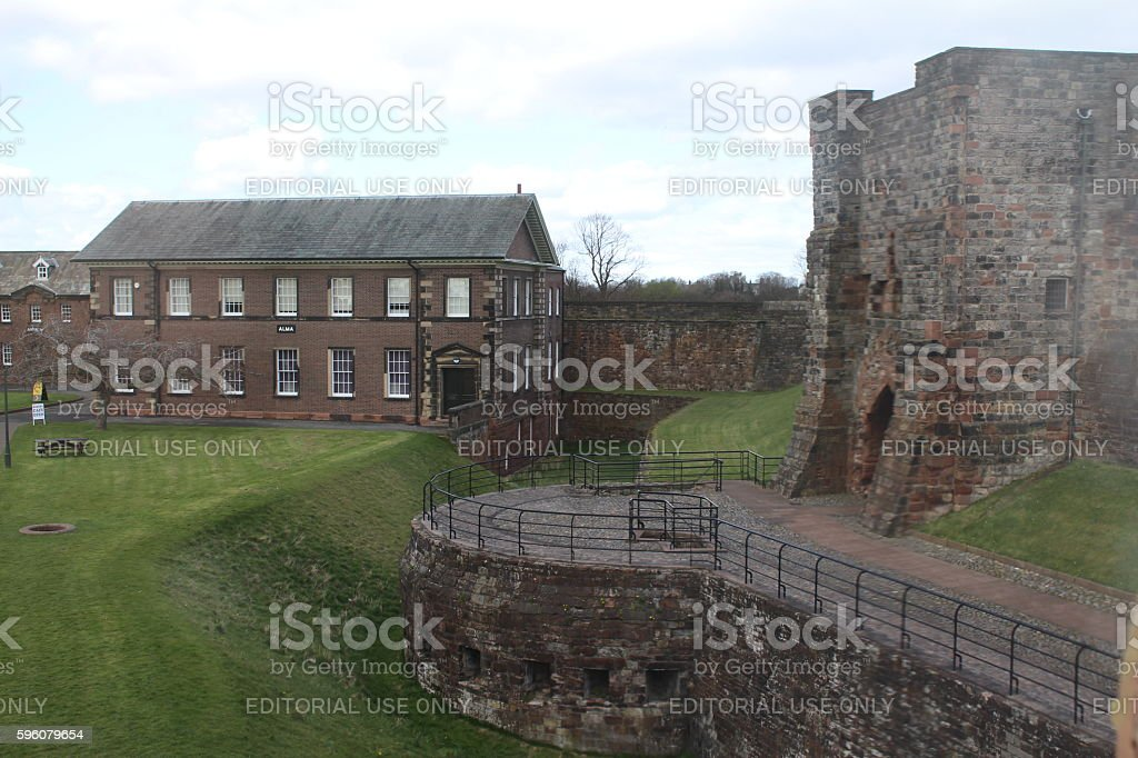 Inside Carlisle Castle stock photo