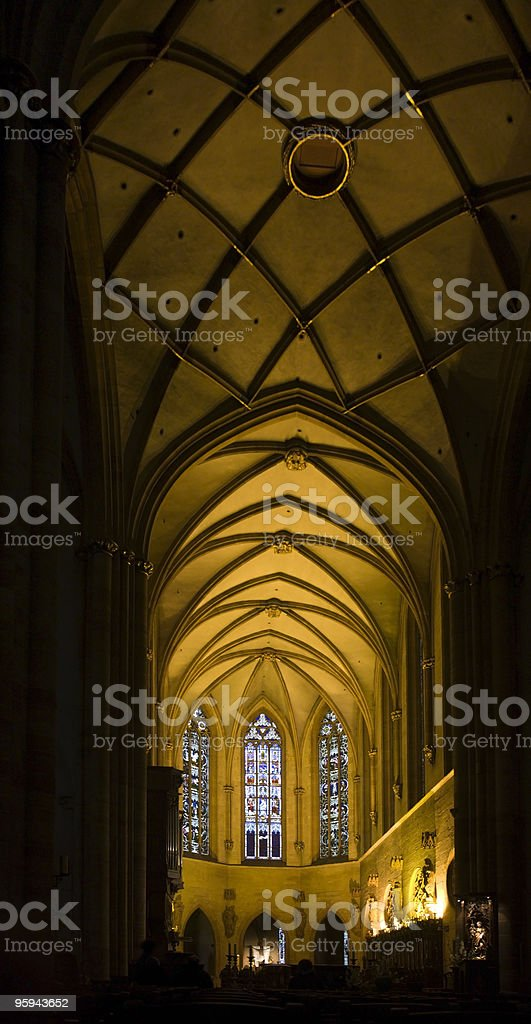 inside cathedral in Colmar royalty-free stock photo