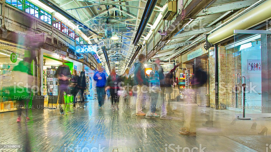 Inside Chelsea Market, Manhattan, New York City stock photo