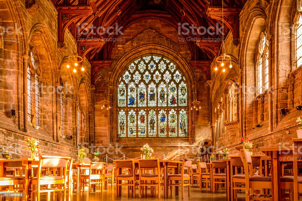 Inside Chester Cathedral stock photo