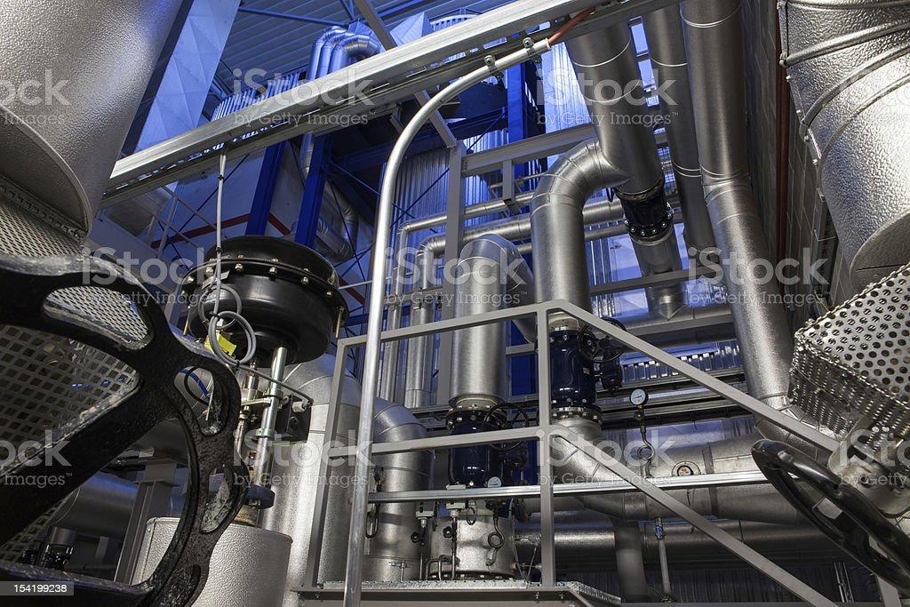 Inside co generation power plant stock photo