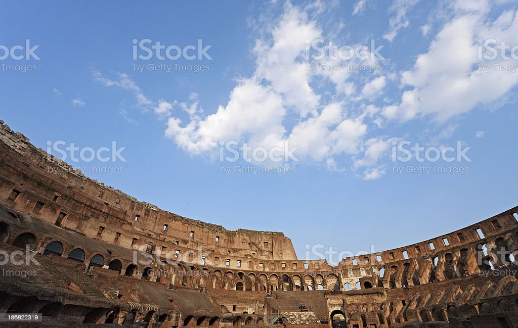 Inside Coliseum, Rome, Italy royalty-free stock photo