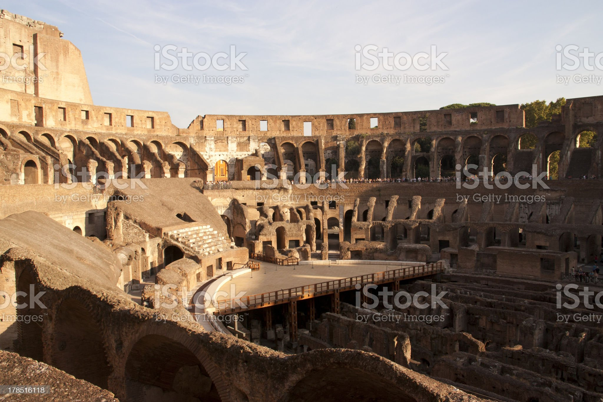Inside Colosseum royalty-free stock photo